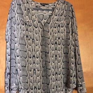 Express blouse snake skin print